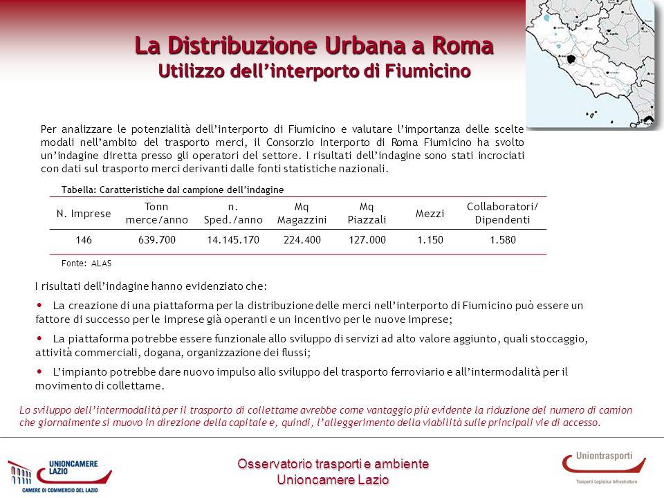 La Distribuzione Urbana a Roma Utilizzo dell'interporto di Fiumicino
