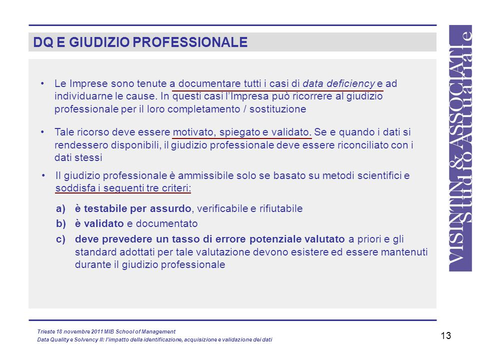DQ E GIUDIZIO PROFESSIONALE