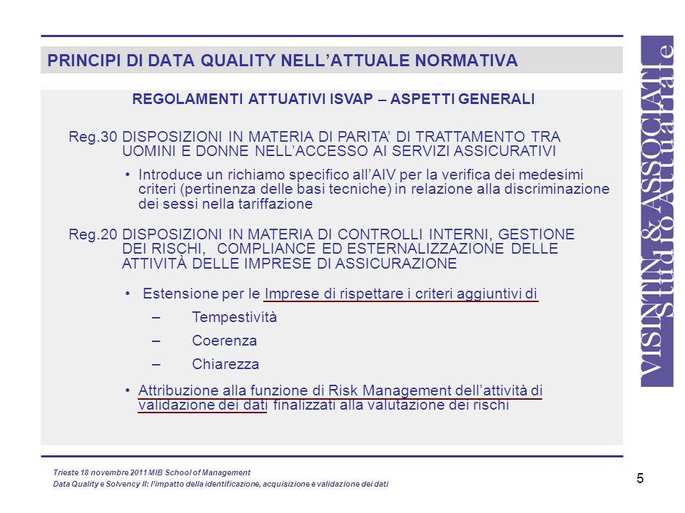 PRINCIPI DI DATA QUALITY NELL'ATTUALE NORMATIVA