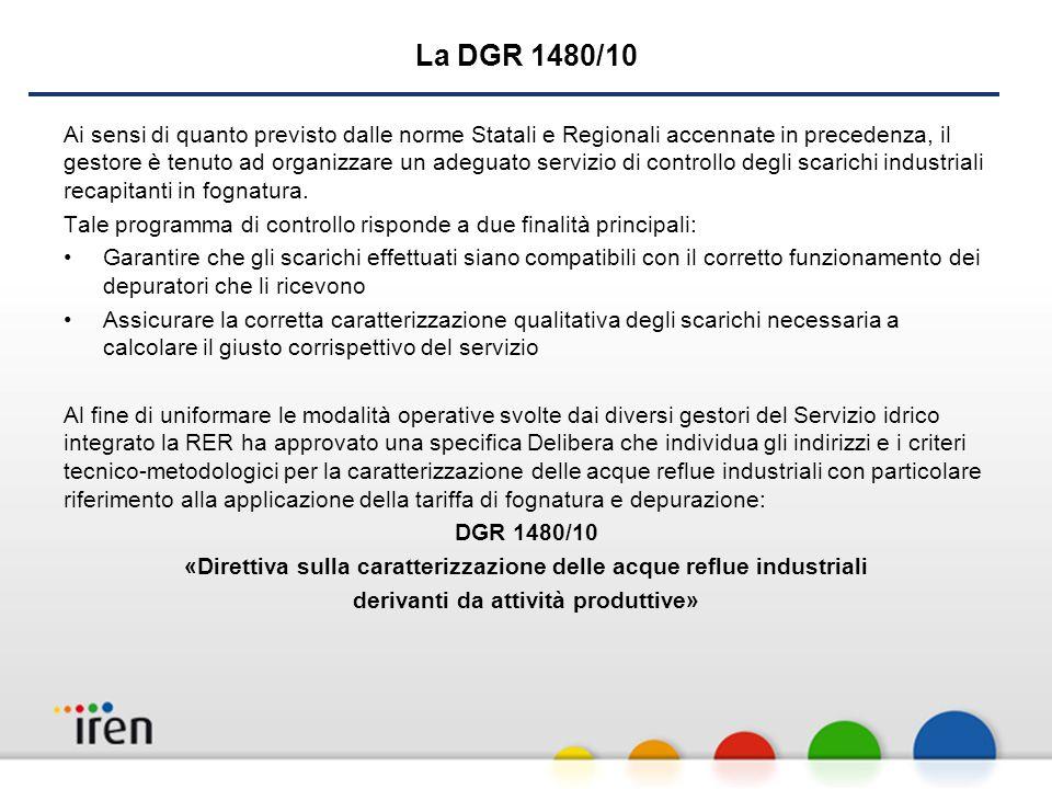 «Direttiva sulla caratterizzazione delle acque reflue industriali