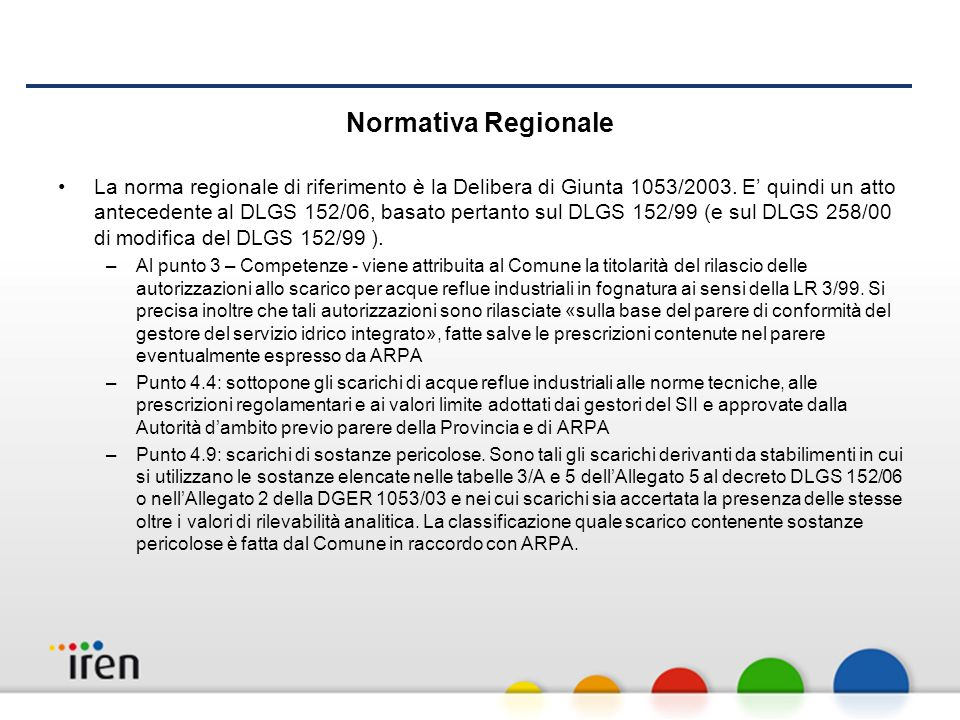 Normativa Regionale