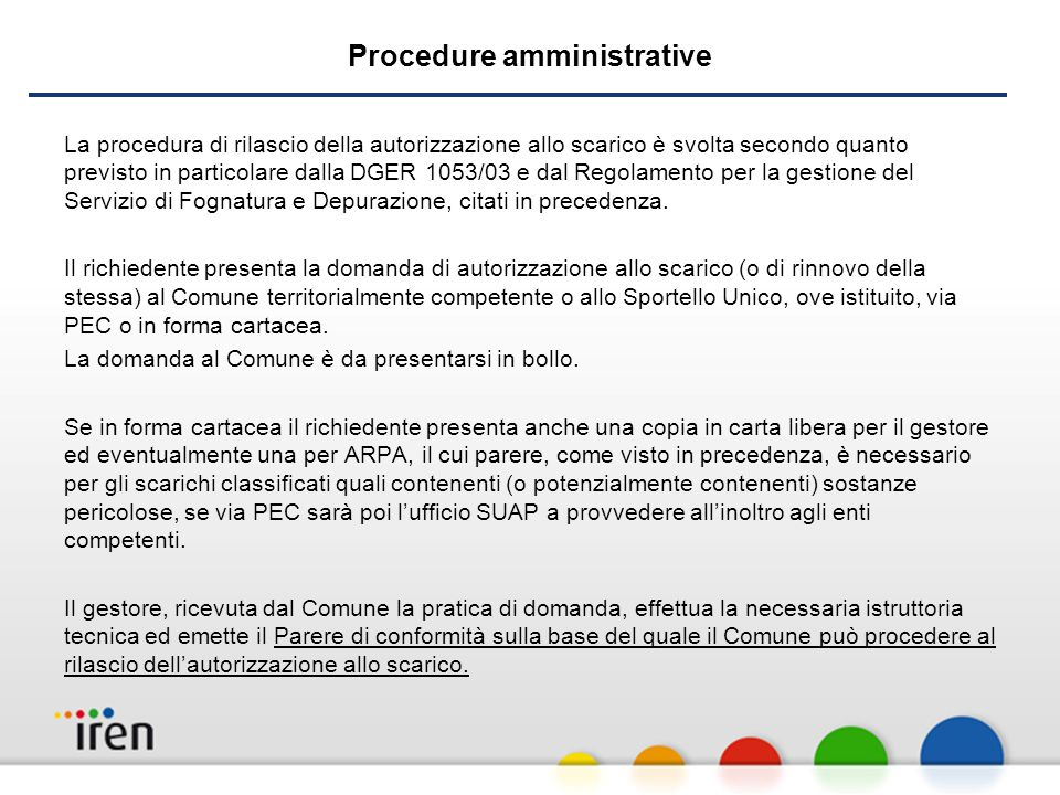 Procedure amministrative