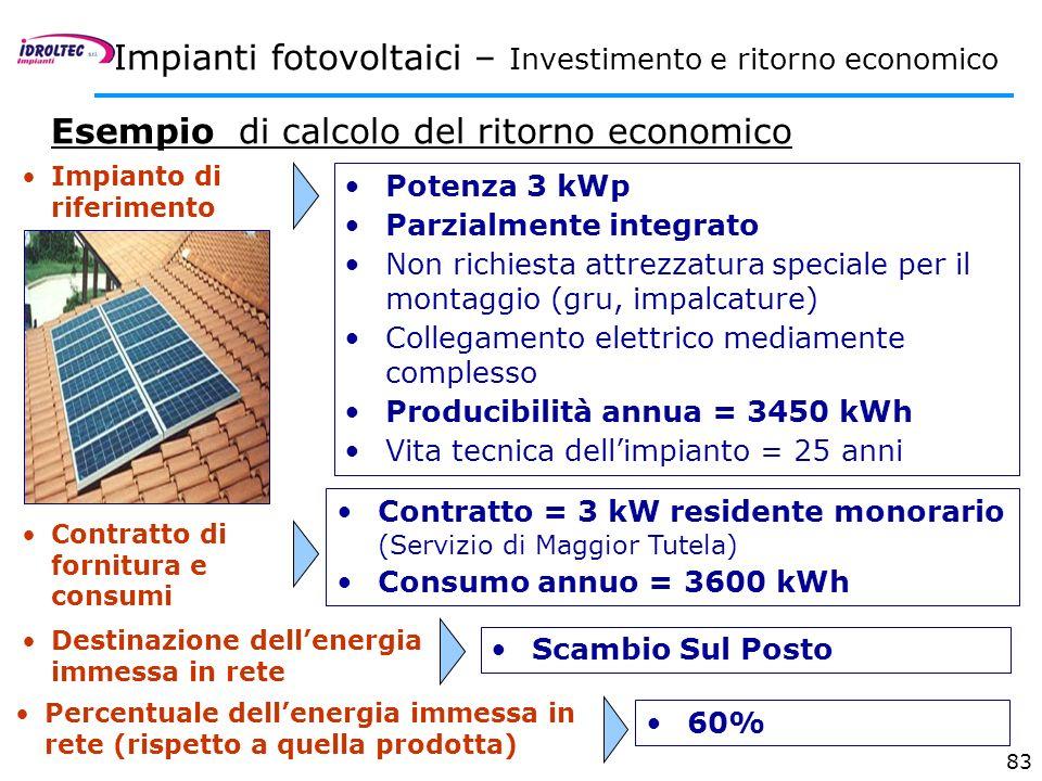 Impianti fotovoltaici – Investimento e ritorno economico