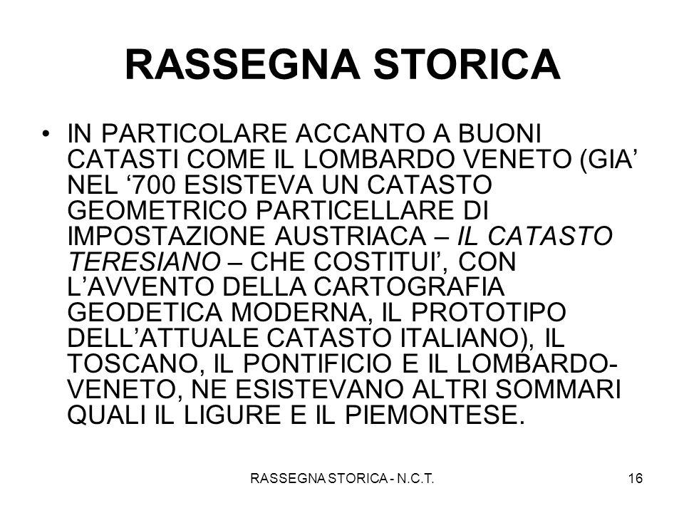 RASSEGNA STORICA