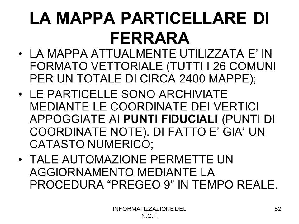 LA MAPPA PARTICELLARE DI FERRARA
