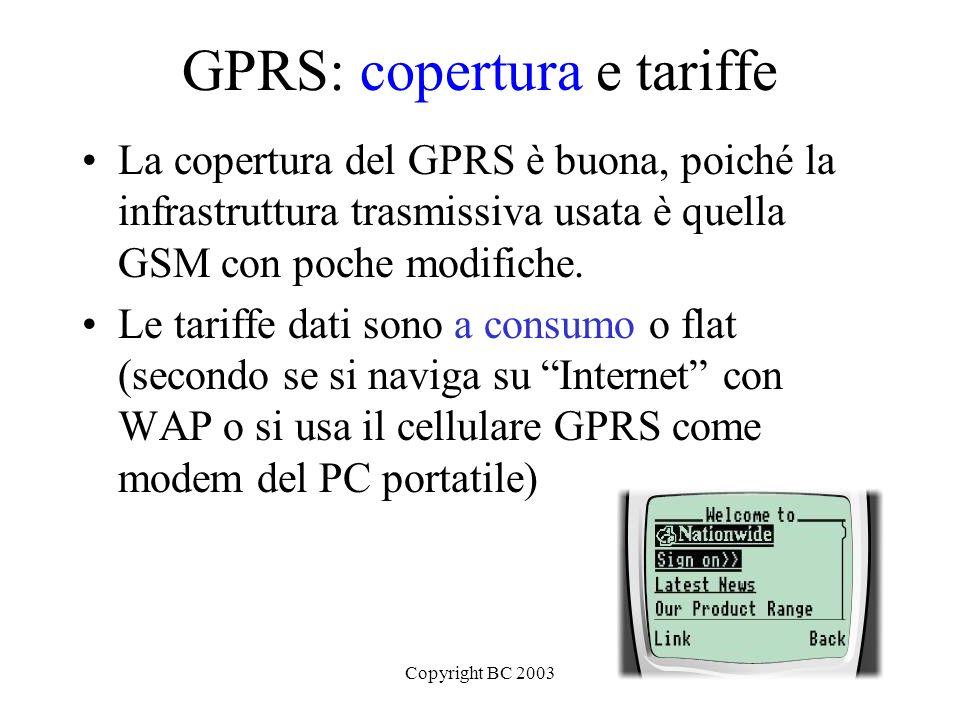 GPRS: copertura e tariffe
