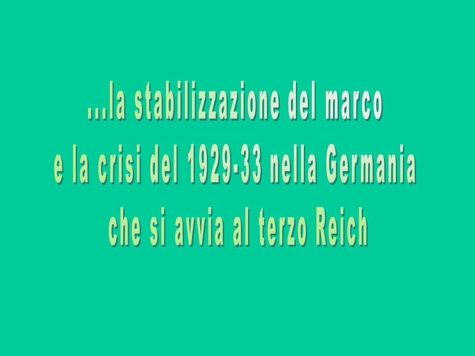 ...la stabilizzazione del marco e la crisi del 1929-33 nella Germania