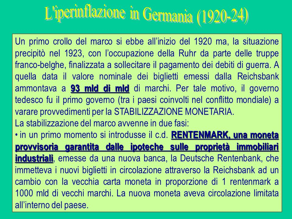 L iperinflazione in Germania (1920-24)