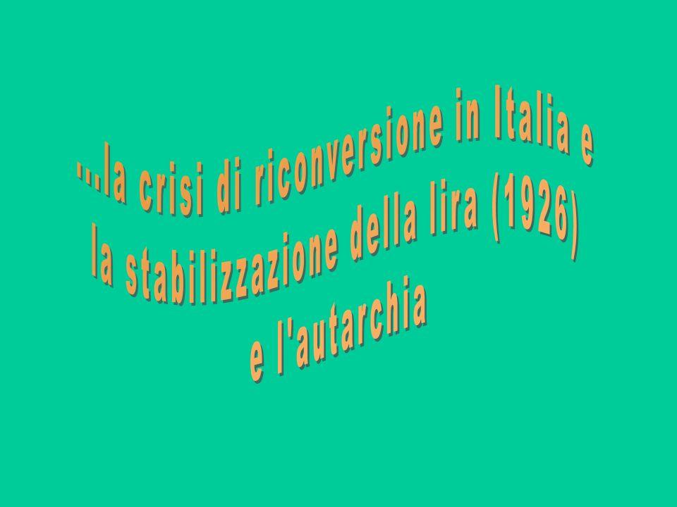 ...la crisi di riconversione in Italia e