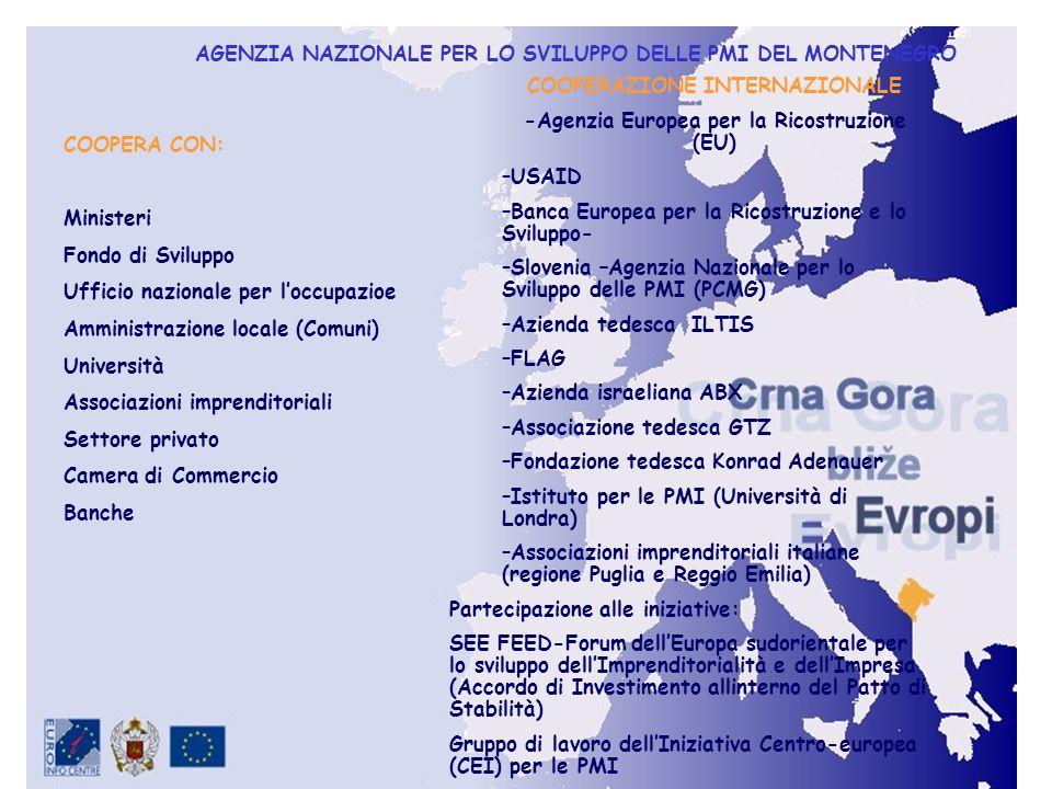 COOPERAZIONE INTERNAZIONALE -Agenzia Europea per la Ricostruzione (EU)