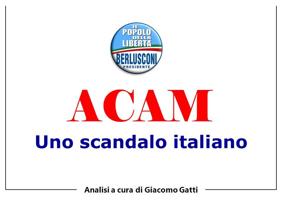 Uno scandalo italiano Analisi a cura di Giacomo Gatti