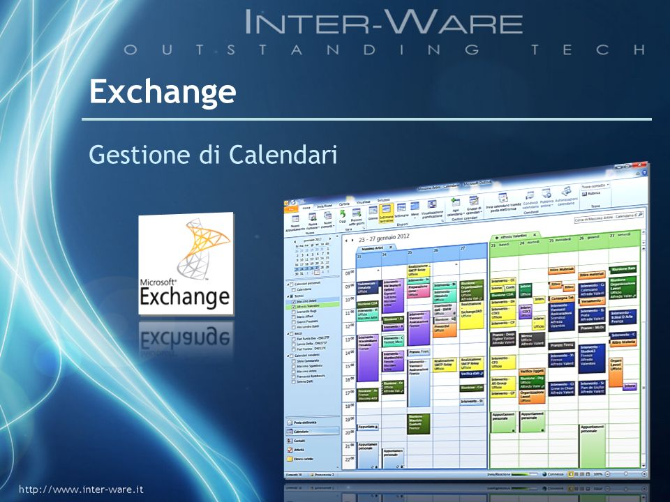 Exchange Gestione di Calendari