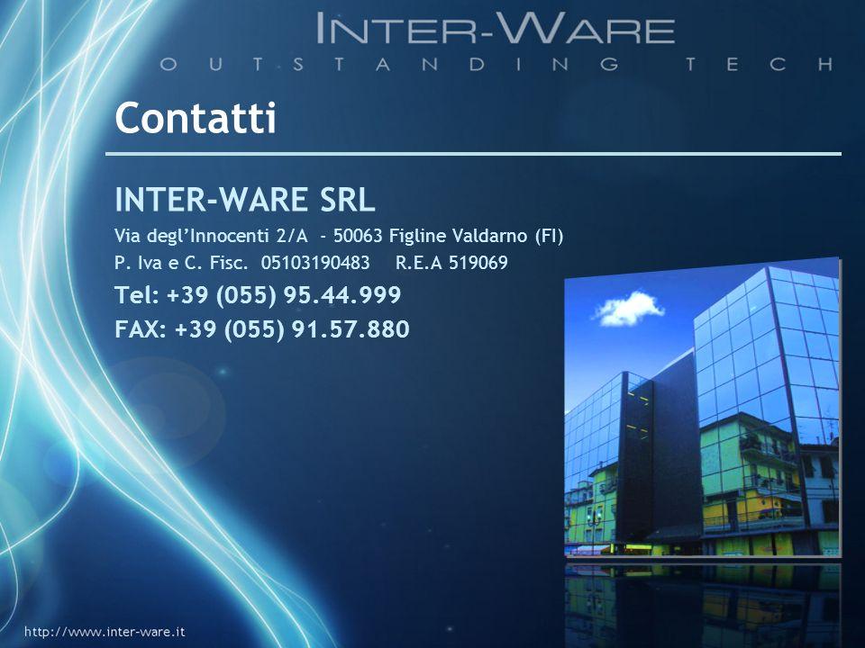 Contatti INTER-WARE SRL Tel: +39 (055) 95.44.999