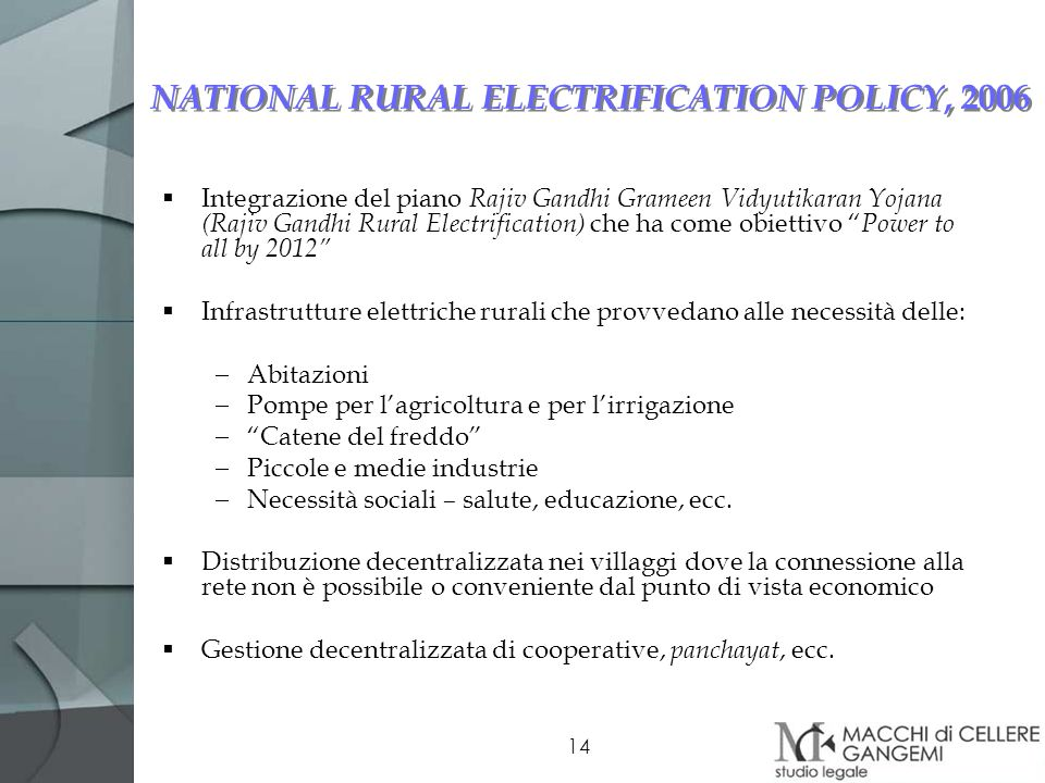 NATIONAL RURAL ELECTRIFICATION POLICY, 2006