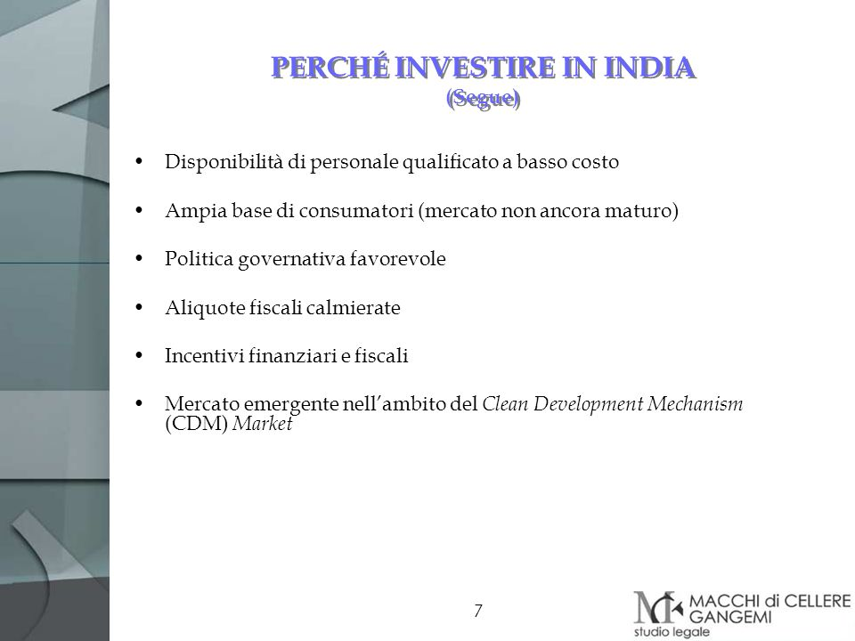 PERCHÉ INVESTIRE IN INDIA (Segue)