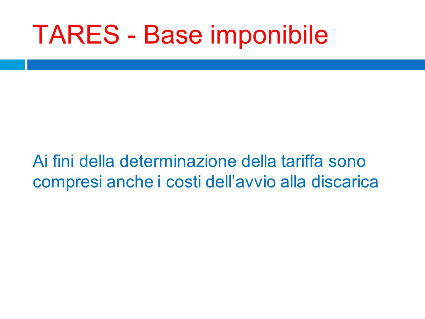 TARES - Base imponibile