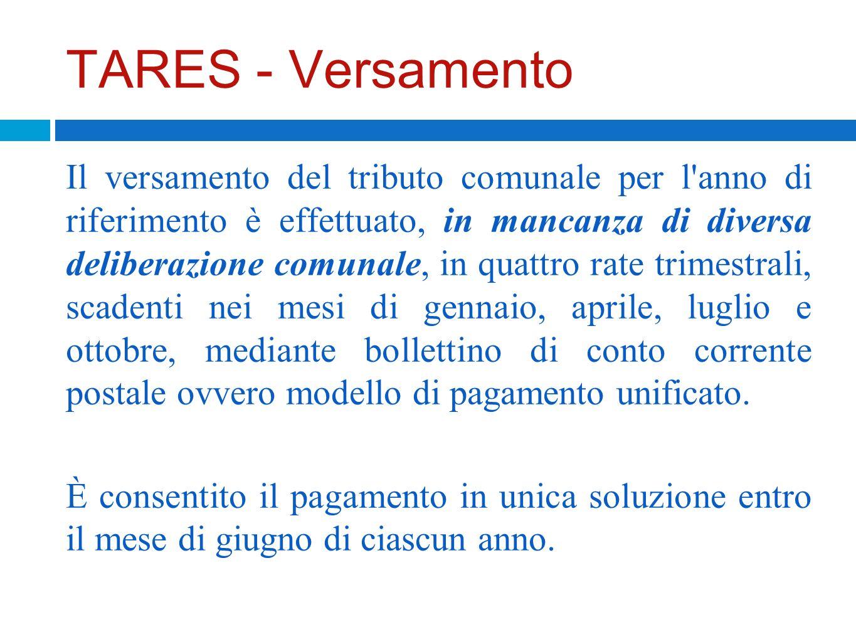 TARES - Versamento