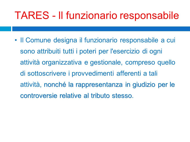 TARES - ll funzionario responsabile
