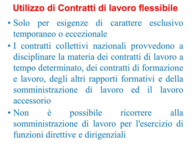 Utilizzo di Contratti di lavoro flessibile