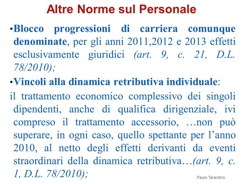 Altre Norme sul Personale