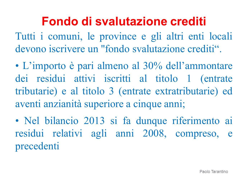 Fondo di svalutazione crediti