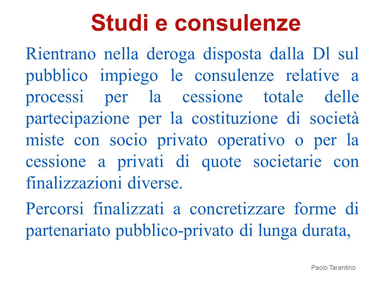 Studi e consulenze