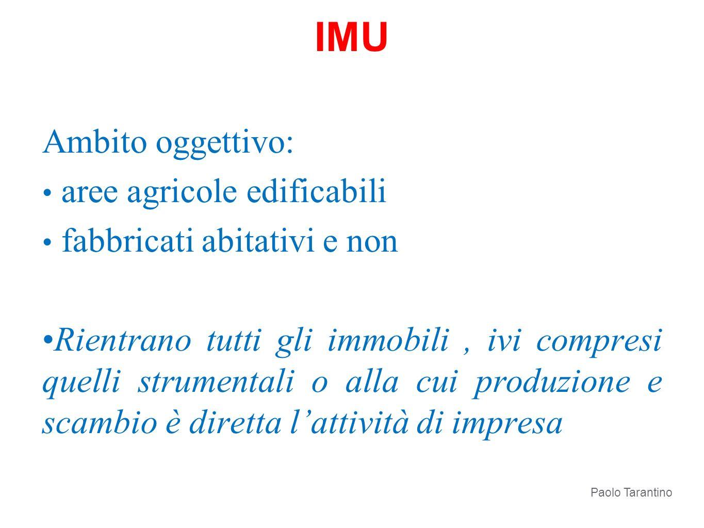IMU Ambito oggettivo: aree agricole edificabili