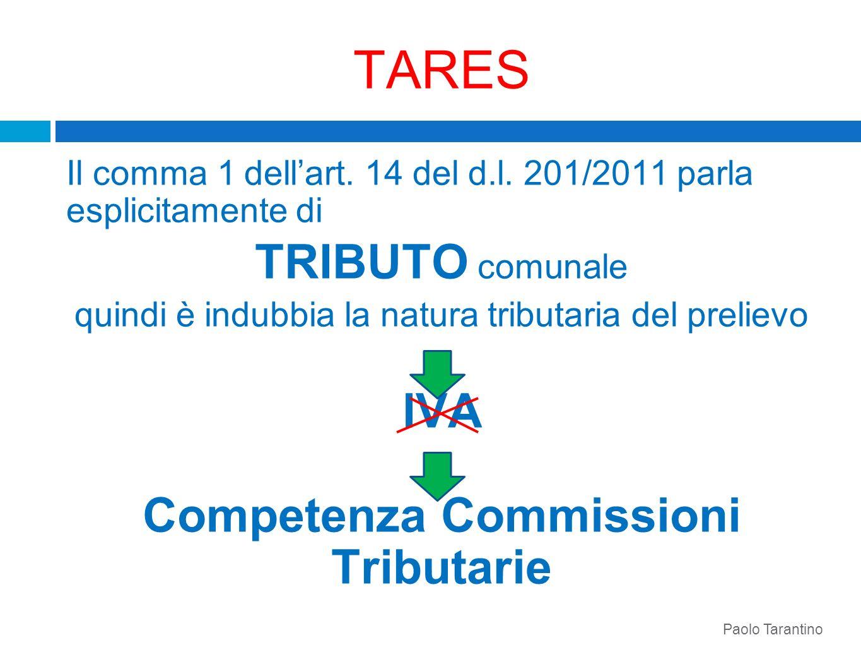 Competenza Commissioni Tributarie