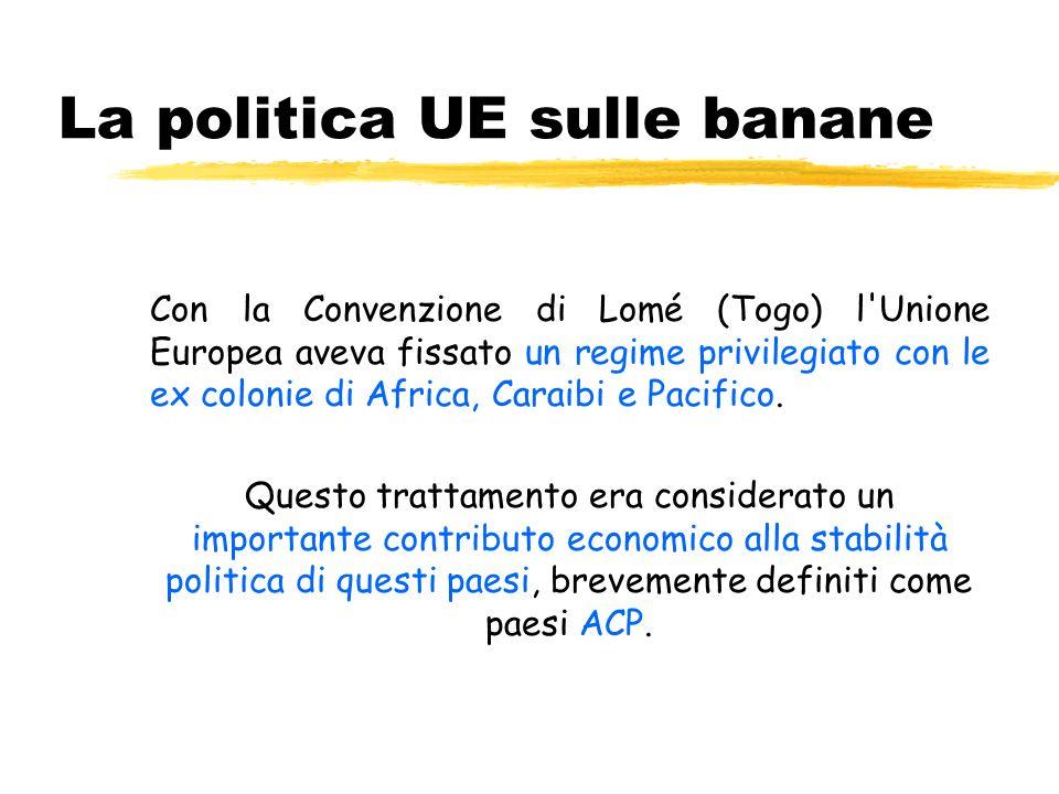 La politica UE sulle banane