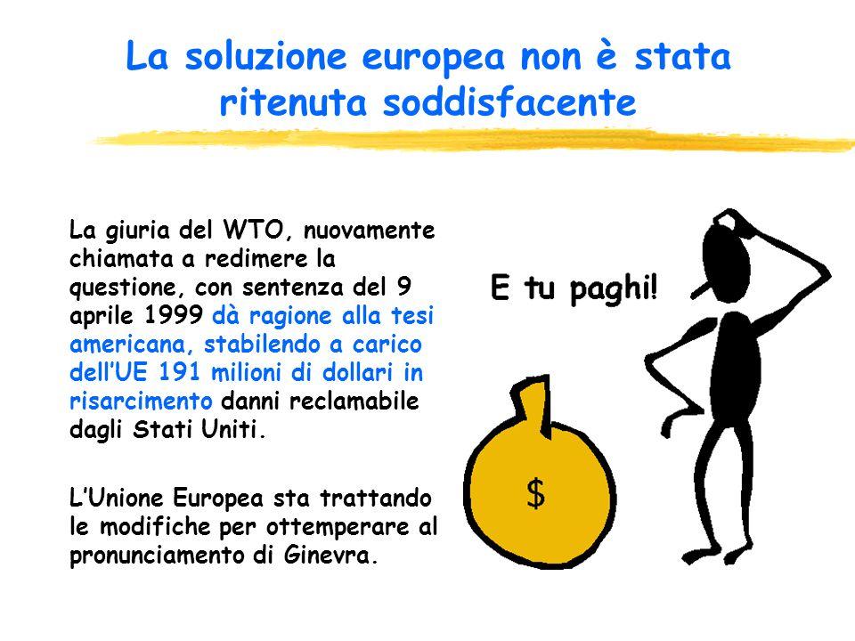 La soluzione europea non è stata ritenuta soddisfacente