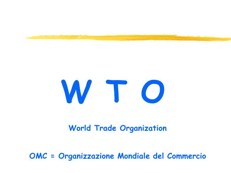 World Trade Organization OMC = Organizzazione Mondiale del Commercio