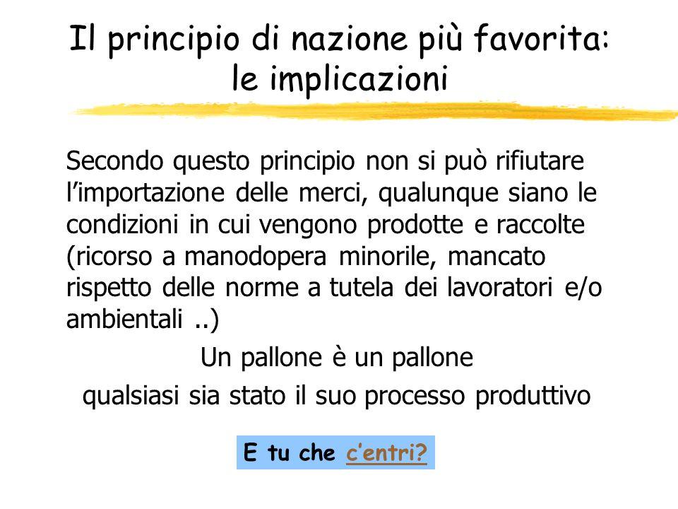 Il principio di nazione più favorita: le implicazioni