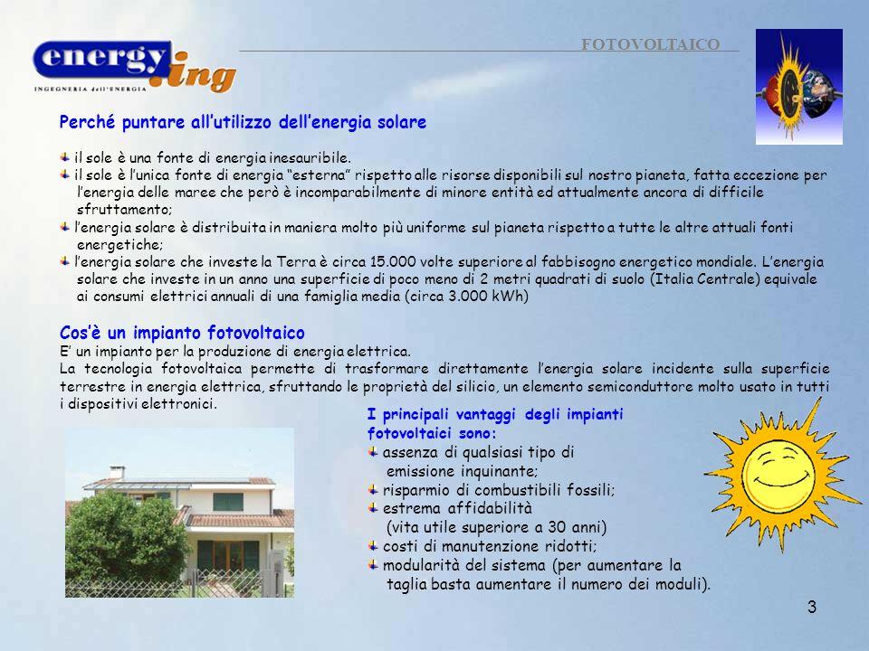 Perché puntare all'utilizzo dell'energia solare