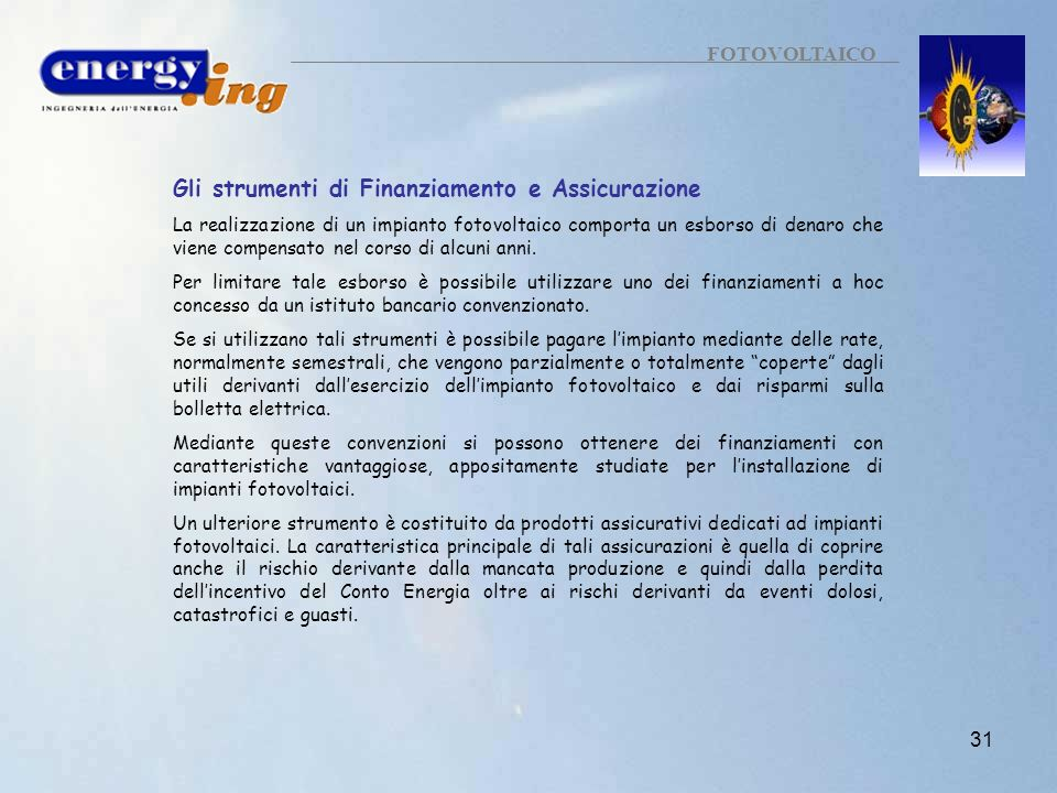Gli strumenti di Finanziamento e Assicurazione