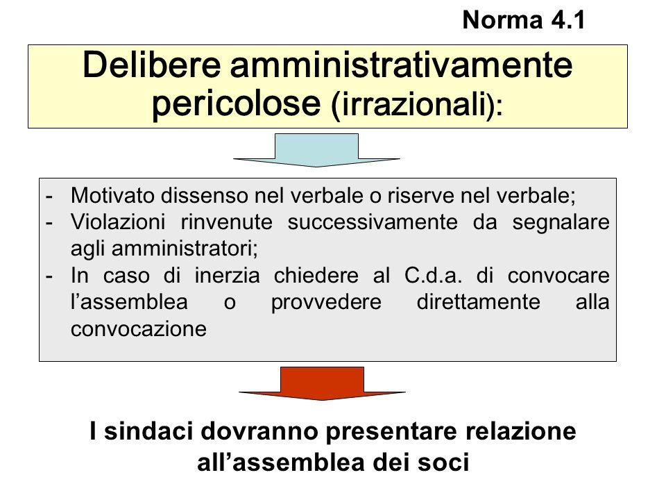 Delibere amministrativamente pericolose (irrazionali):