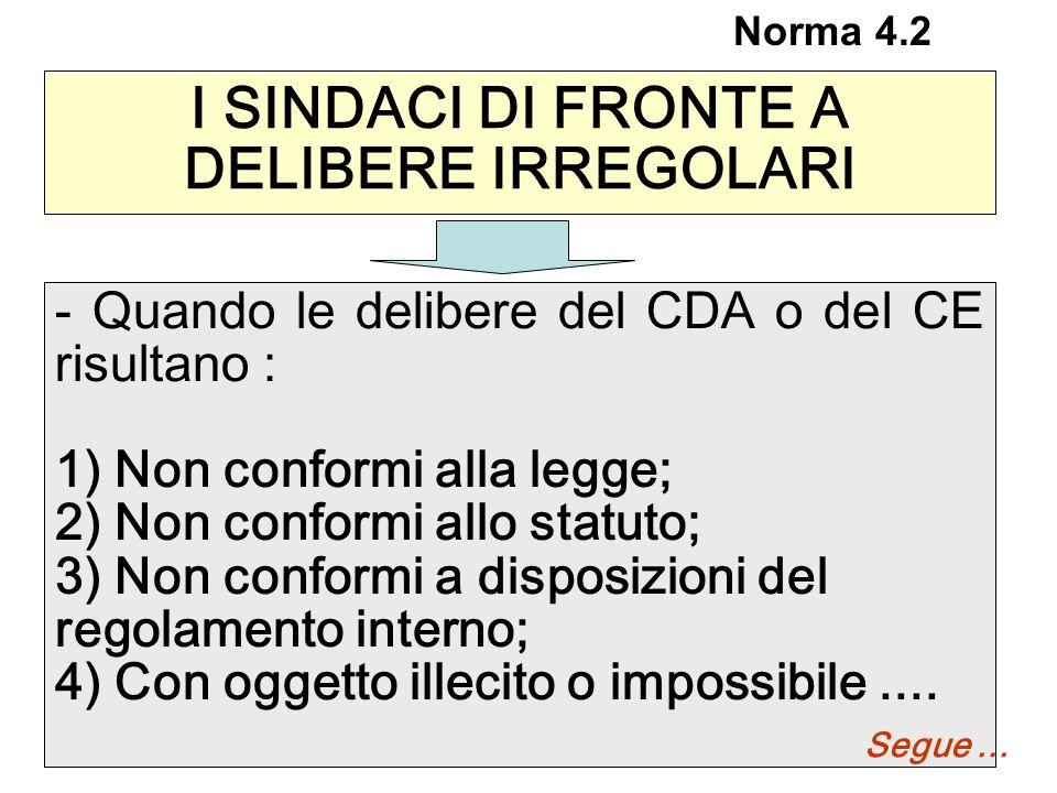 I SINDACI DI FRONTE A DELIBERE IRREGOLARI