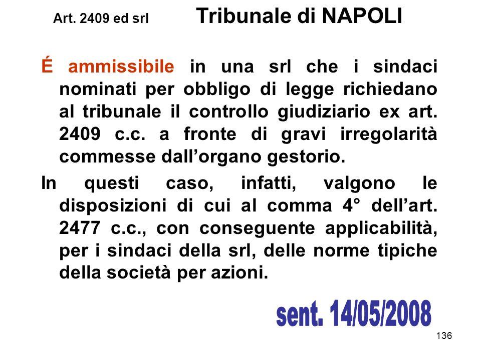 Art. 2409 ed srl Tribunale di NAPOLI