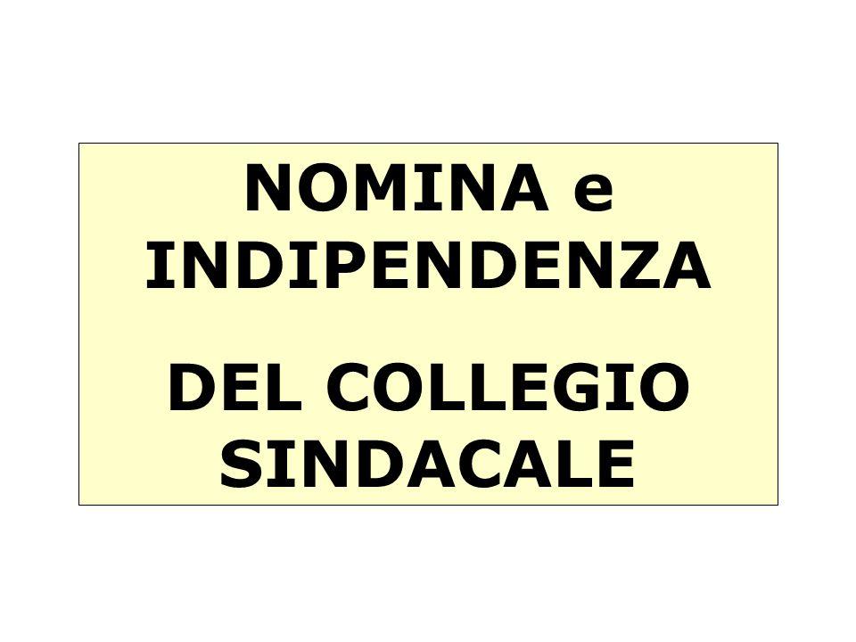DEL COLLEGIO SINDACALE