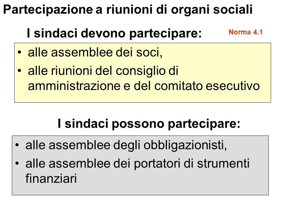 Partecipazione a riunioni di organi sociali