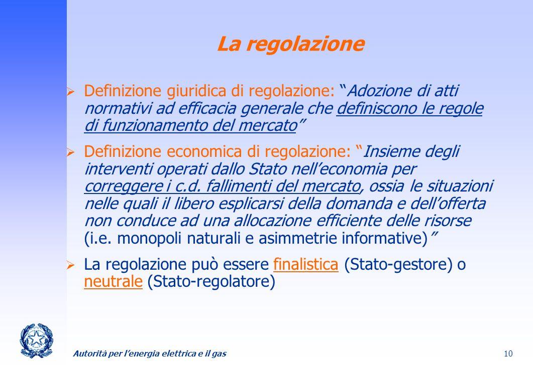 La regolazione