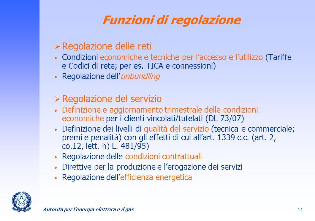 Funzioni di regolazione