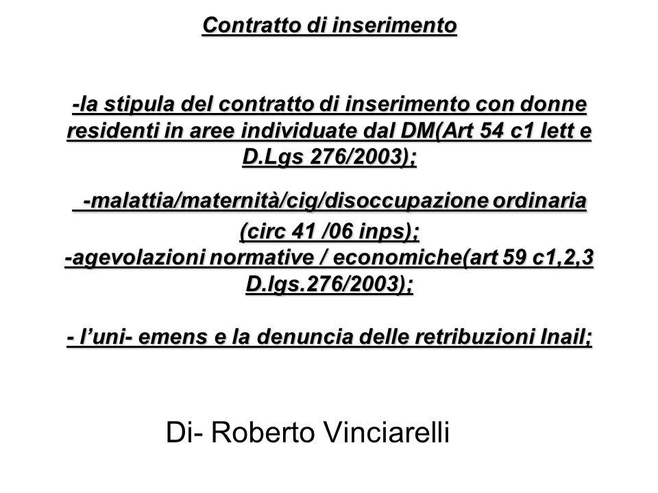 Di- Roberto Vinciarelli