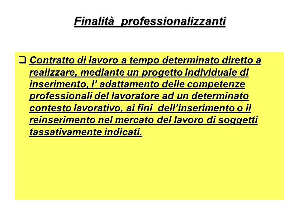 Finalità professionalizzanti