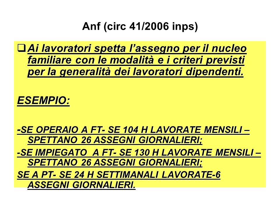 Anf (circ 41/2006 inps)