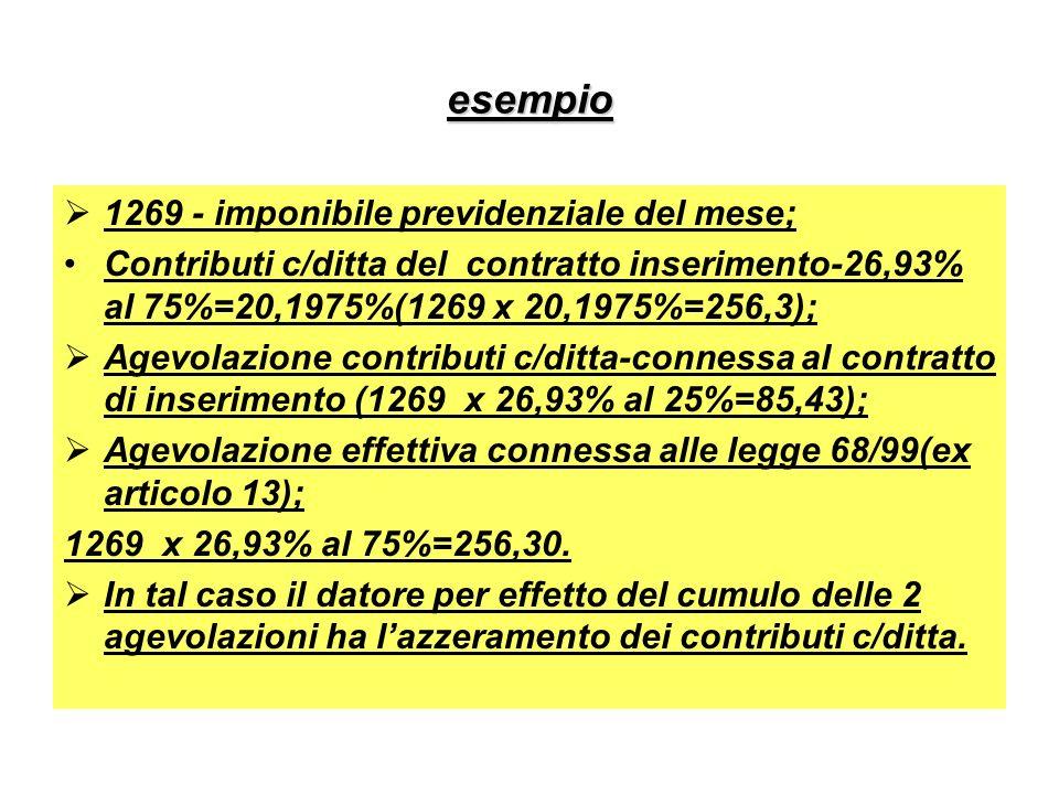 esempio 1269 - imponibile previdenziale del mese;
