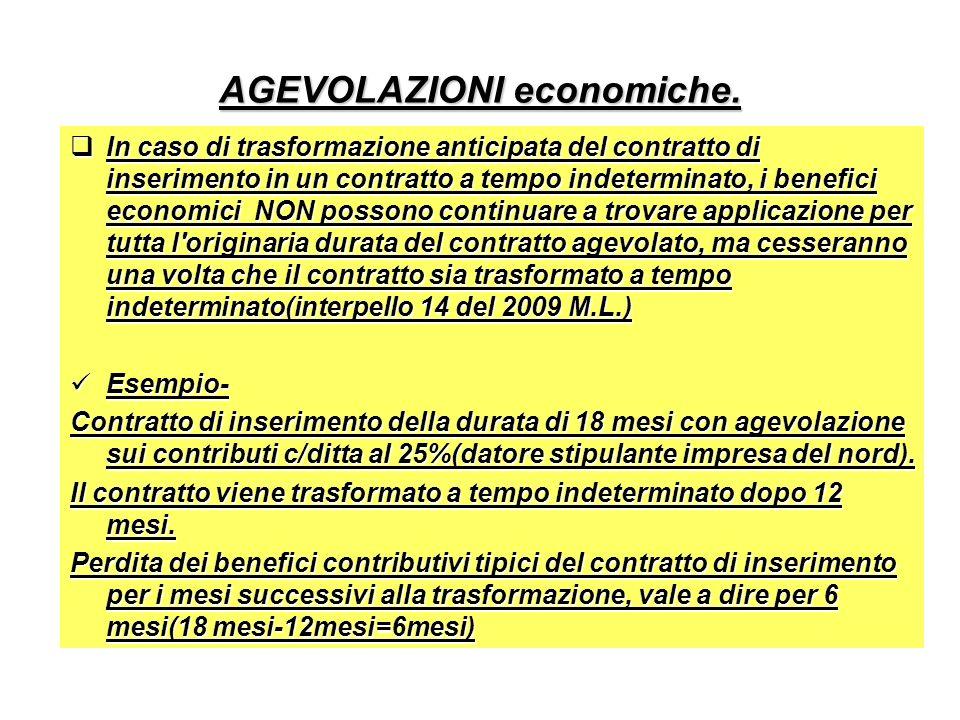 AGEVOLAZIONI economiche.