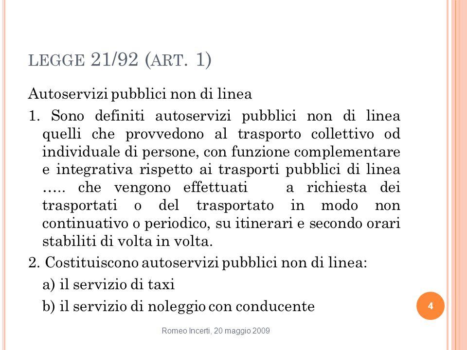 legge 21/92 (art. 1)