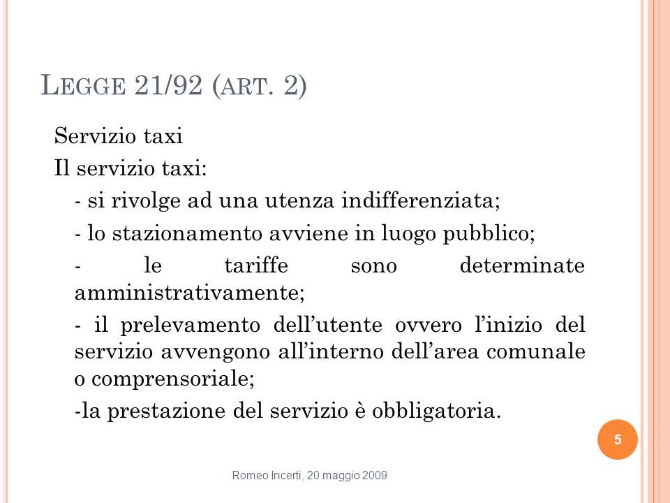 Legge 21/92 (art. 2)