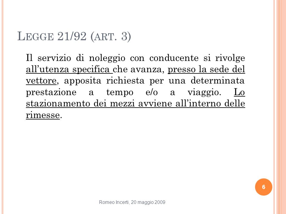 Legge 21/92 (art. 3)