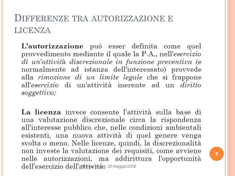 Differenze tra autorizzazione e licenza